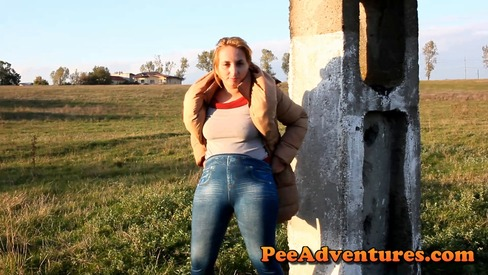 LEANN: Shes pissing outdoors